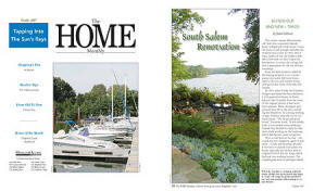 The HOME Monthly magazine article PDF with cover - South Salem Renovation, Blends Old and New Twice