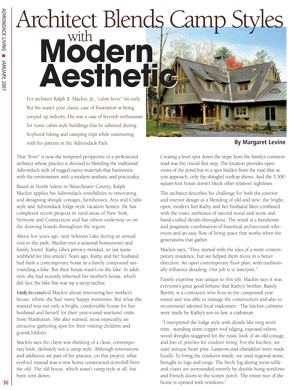 Mackin Architects featured in Adirondack Living